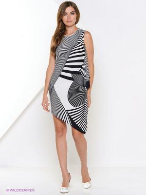 Платье Арт-Деко. Цвет: темно-синий, белый