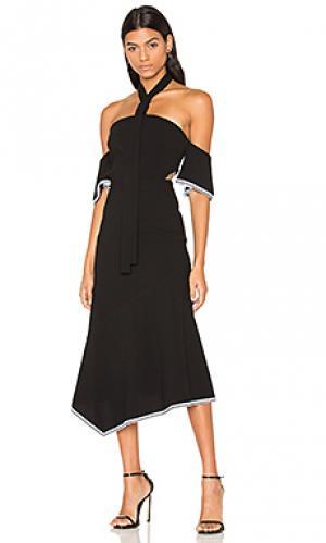 Миди-платье на шлейках courtside Rebecca Vallance. Цвет: черный