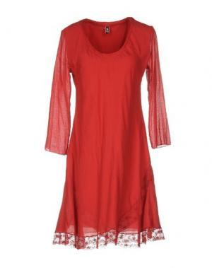 Короткое платье EUROPEAN CULTURE. Цвет: кирпично-красный