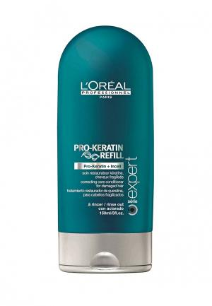 Смываемый восстанавливающий и укрепляющий уход LOreal Professional L'Oreal. Цвет: зеленый