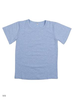 Футболка OFKA. Цвет: голубой
