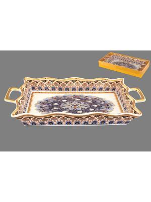 Хлебница Калейдоскоп Elan Gallery. Цвет: белый, серый, золотистый