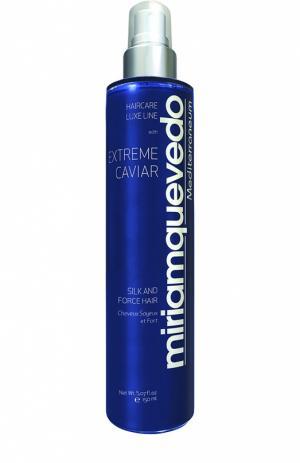 Оживляющий спрей для волос с протеинами шелка и экстрактом черной икры Miriamquevedo. Цвет: бесцветный