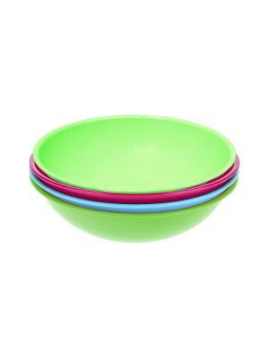Салатник - 4 шт. Migura. Цвет: салатовый, голубой, розовый