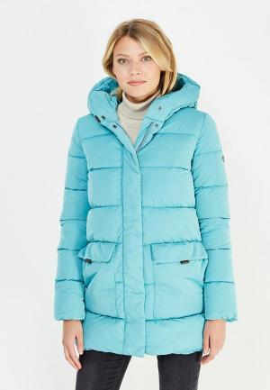 Куртка утепленная Grishko. Цвет: бирюзовый