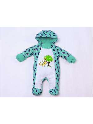 Комбинезоны нательные для малышей batik. Цвет: светло-зеленый, белый
