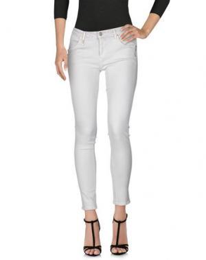 Джинсовые брюки MAURO GRIFONI. Цвет: белый