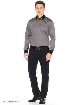 Рубашка Alex DANDY. Цвет: черный, оранжевый, серый