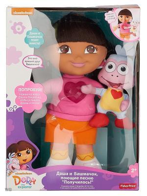 Даша-путешественница  Набор Поющие Даша и Башмачок Mattel. Цвет: лиловый