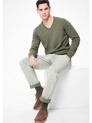 Пуловер S.OLIVER. Цвет: хаки