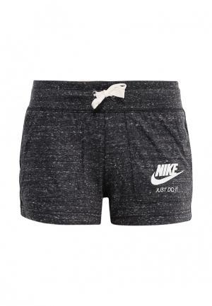 Шорты Nike. Цвет: серый