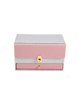 Шкатулка для ювелирных украшений CALVANI. Цвет: бледно-розовый, бежевый