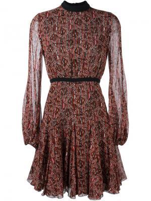 Платье с абстрактным принтом Giambattista Valli. Цвет: чёрный
