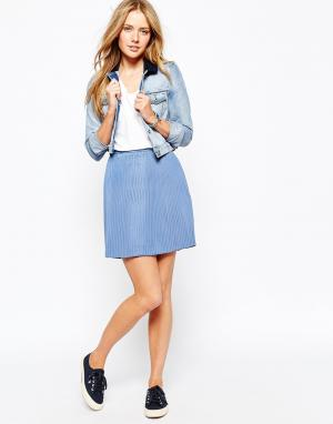 Jack Wills Плиссированная мини-юбка. Цвет: синий