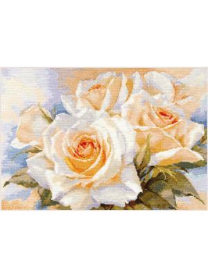 Набор для вышивания Белые розы 40х27 см. , Алиса. Цвет: бежевый, белый