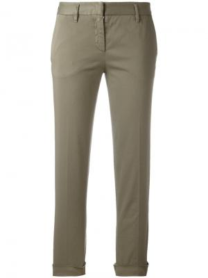 Укороченные брюки Aspesi. Цвет: серый