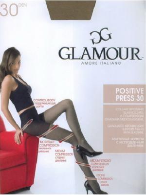 Колготки Positive press 30 Glamour. Цвет: темно-коричневый