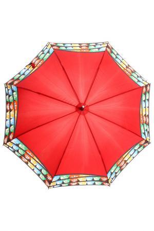 Зонт-трость H.DUE.O. Цвет: красный