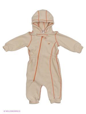 Комбинезон для малышей ЛисФлис. Цвет: молочный, оранжевый