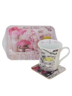 Набор Парижские Цветы Gift'n'Home. Цвет: розовый, белый, зеленый