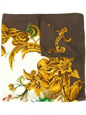 Платок с принтом в стиле барокко Christian Dior Vintage. Цвет: коричневый