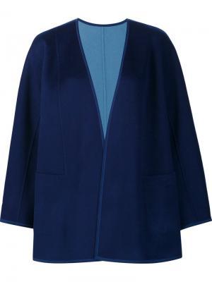 Укороченный драпированный пиджак Lafayette 148. Цвет: синий