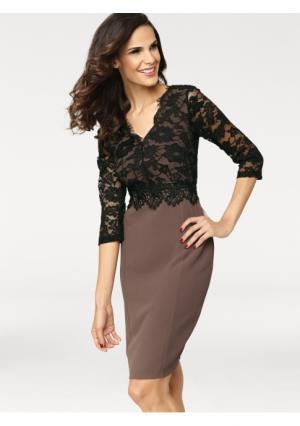 Коктейльное платье Ashley Brooke. Цвет: черный/ореховый