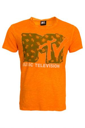 Футболка Mtv. Цвет: оранжевый