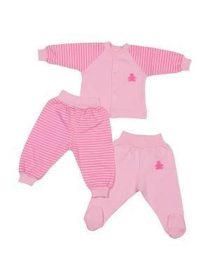 Комплект для малышей M-BABY. Цвет: розовый