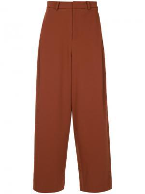 Широкие брюки с завышенной талией En Route. Цвет: жёлтый и оранжевый