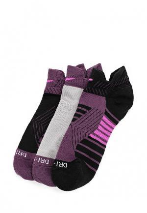 Комплект носков 3 пары Nike. Цвет: фиолетовый