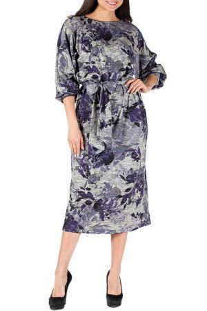 Платье Mannon. Цвет: серо-сиреневый