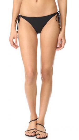 Плавки бикини с завязками по бокам ViX Swimwear. Цвет: голубой