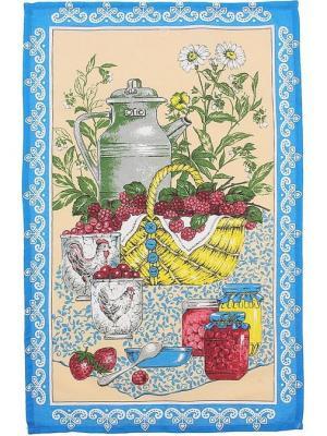 Полотенце кухонное 2 шт., Варенье, 47*70 см Радужки. Цвет: голубой
