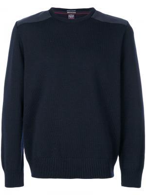 Классический трикотажный свитер Paul & Shark. Цвет: синий