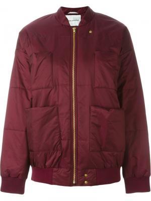 Куртка-бомбер Reva Carin Wester. Цвет: красный
