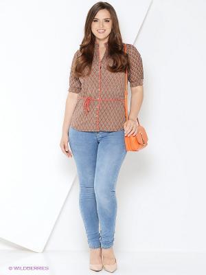 Блуза Milana Style. Цвет: бежевый
