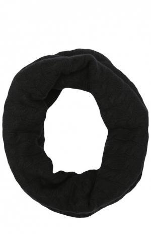 Вязаный шарф-хомут из кашемира Johnstons Of Elgin. Цвет: черный