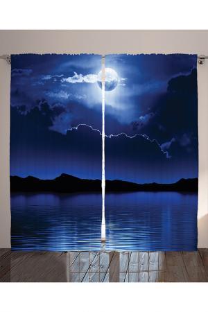 Комплект штор, 290x265 см MAGIC LADY. Цвет: синий