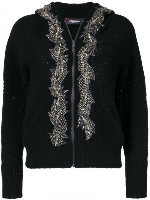 Embellished hooded cardigan Jo No Fui. Цвет: чёрный