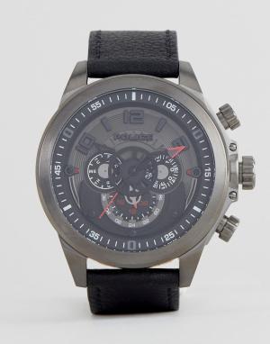 Police Часы с черным многофункциональным циферблатом Belmont. Цвет: черный