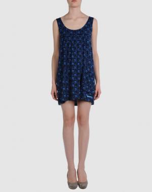 Короткое платье BJORKVIN. Цвет: темно-синий