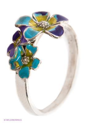 Кольцо Lovely Jewelry. Цвет: серебристый, желтый, синий