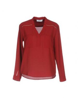 Блузка AXARA PARIS. Цвет: красно-коричневый