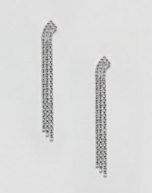 Krystal London Серьги с кристаллами Swarovski. Цвет: очистить