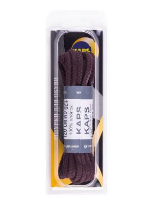 Шнурки вощеные толстые коричневые 120 см KAPS. Цвет: коричневый