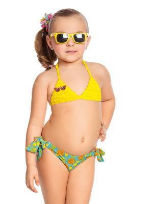 Купальник для девочек Arina. Цвет: голубой,оранжевый,желтый