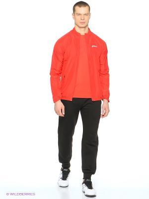 Ветровка Woven Jacket ASICS. Цвет: красный, черный