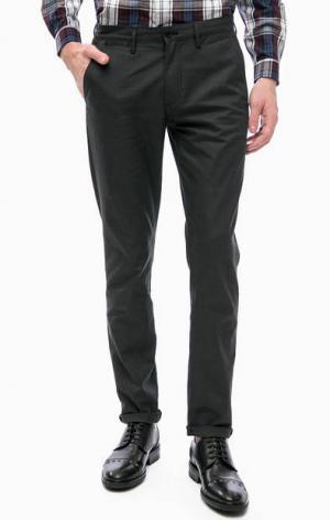 Серые хлопковые брюки с карманами Fred Perry. Цвет: серый