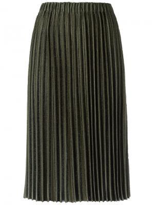 Midi knitted skirt Gig. Цвет: зелёный